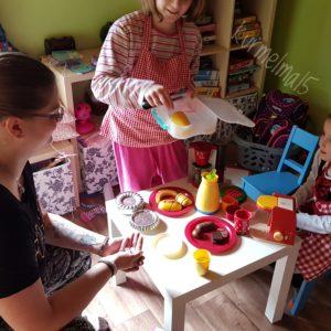 Spielen, Bäcker, Kinder, Kinderküche